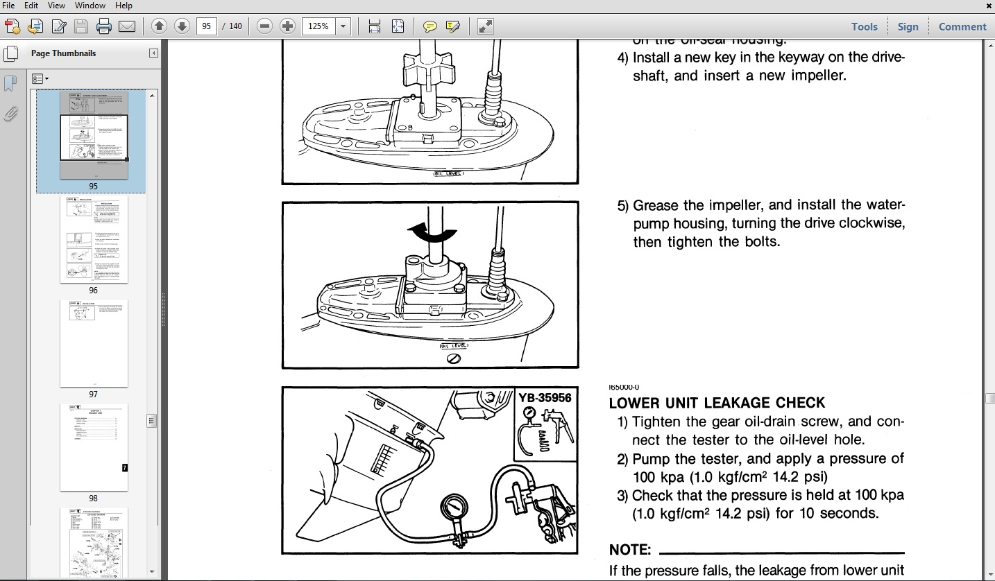 Yamaha service manual